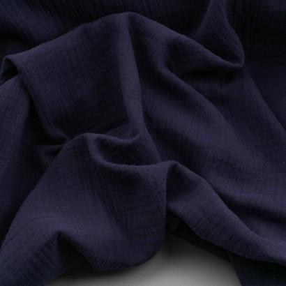 muselina azul arrugada