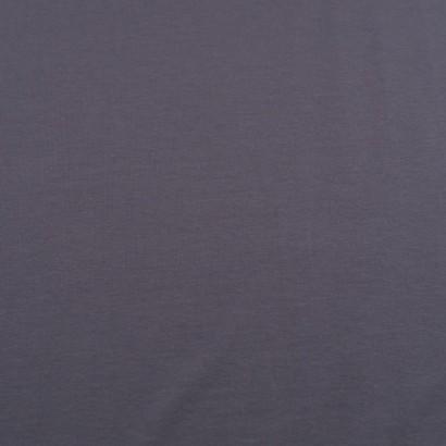 Tela de punto camiseta lisa algodón gris lisa