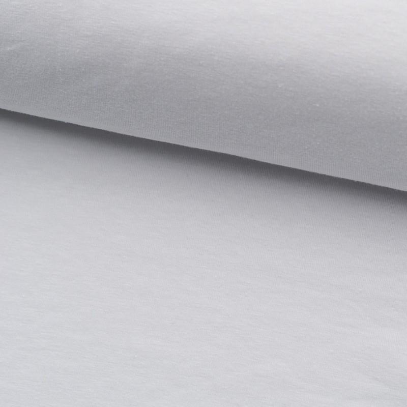 Tela de punto camiseta lisa algodón blanco lomo