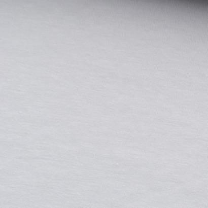 Tela de punto camiseta lisa algodón blanco lisa