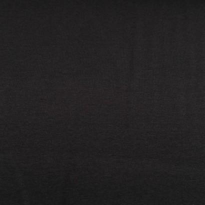 Tela de punto camiseta liso algodón negro  lisa