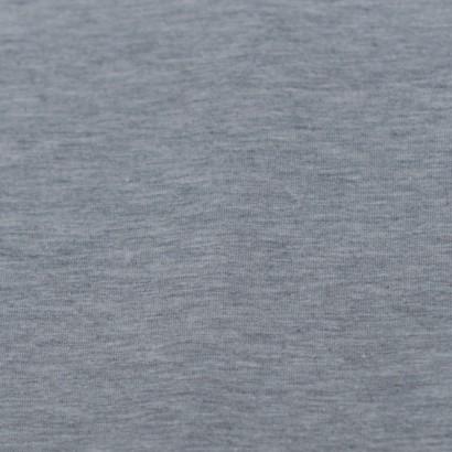 Tela de punto camiseta liso algodón gris perla  lisa