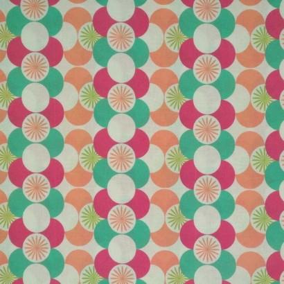 Tela de algodón círculos de colores 1