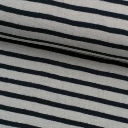 Tela de punto rayas delgadas marinera lomo
