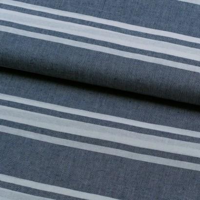 Tela de lino varias rayas marinera lomo