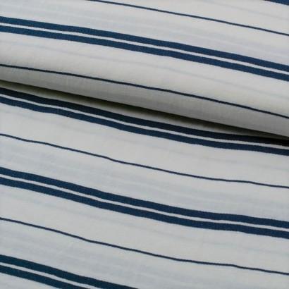 Tela de lino rayas delgadas marinera lomo