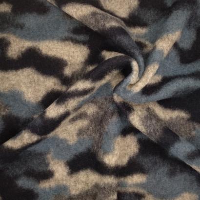 Tela de paño de camuflaje arrugada