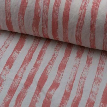 Tela de lino lomo rosa palo