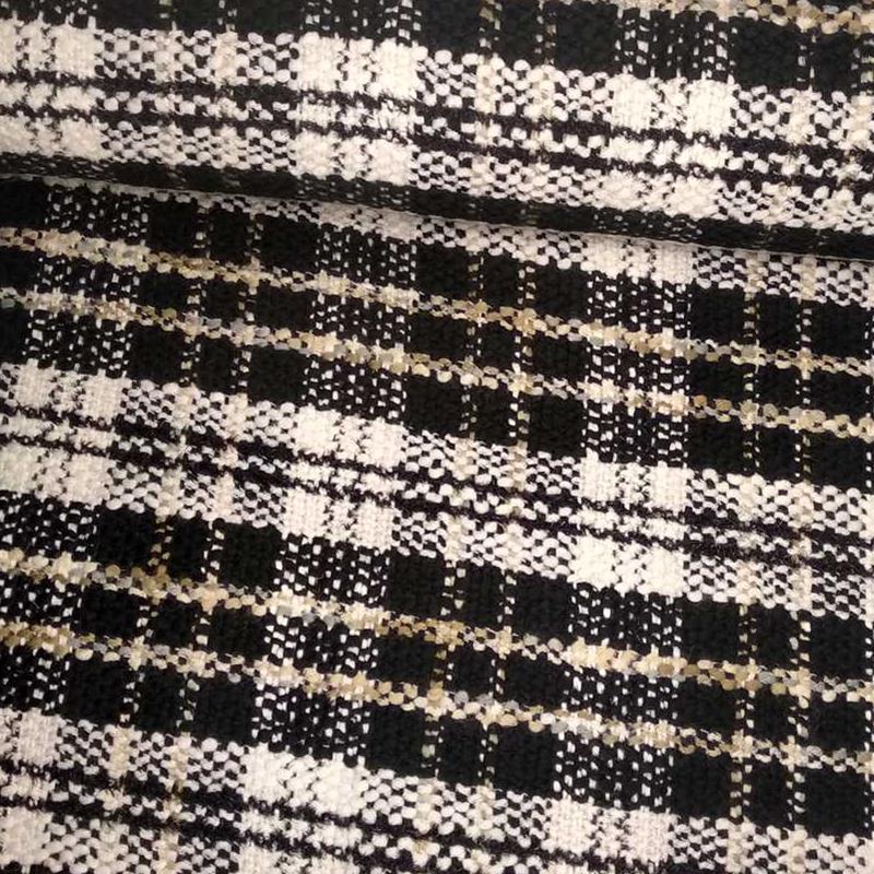 Tela de algodón de cuadros tubo