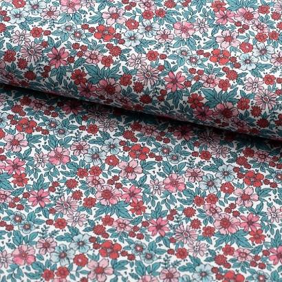 Tela de algodón varias flores lomo