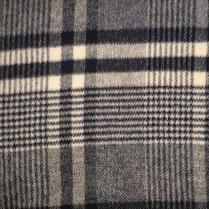 Tela de lana cuadros azules y blancos