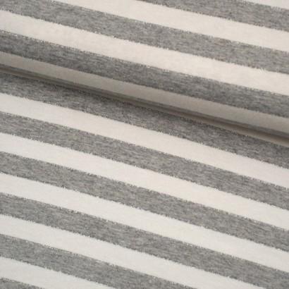 Tela de punto rayas lúrex lomo