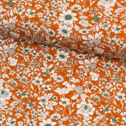 Tela de algodón flores liberty bicolor lomo