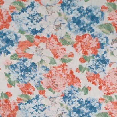 Tela de algodón flores hortensias lisa