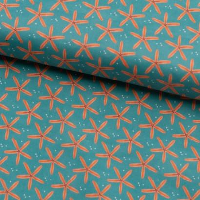 Tela de algodón estrellas de mar lomo