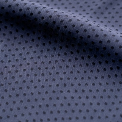 Tela de seda topos cuadrados detalle