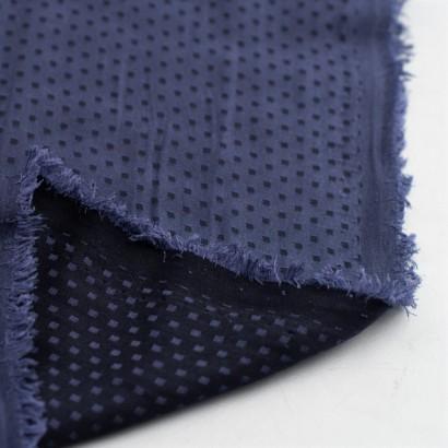 Tela de seda topos cuadrados revés