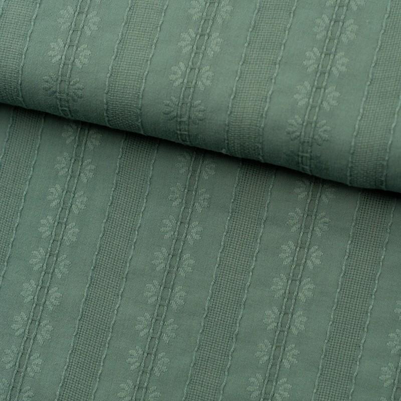 Tela de algodón bordada lomo