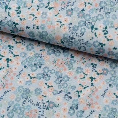 Tela de loneta flores vintage lomo