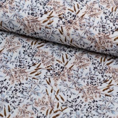 Tela de algodón flocado espigadas lomo