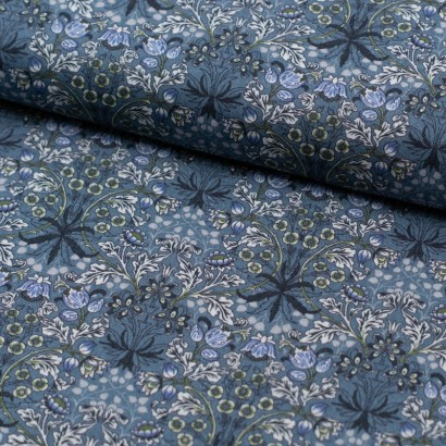 Tela de algodón ramo flores lomo