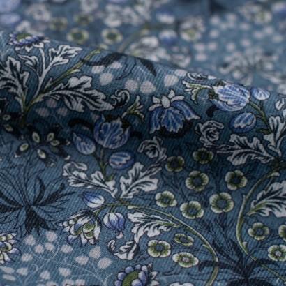 Tela de algodón ramo flores detalle