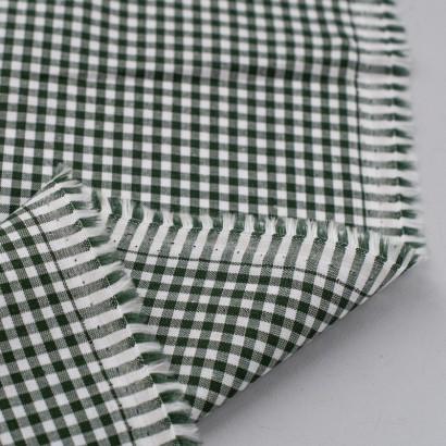 Tela de algodon vichy (4mm) revés