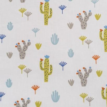 Tela de algodón cactus