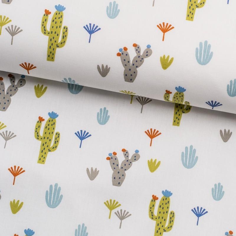 Tela de algodón cactus lomo
