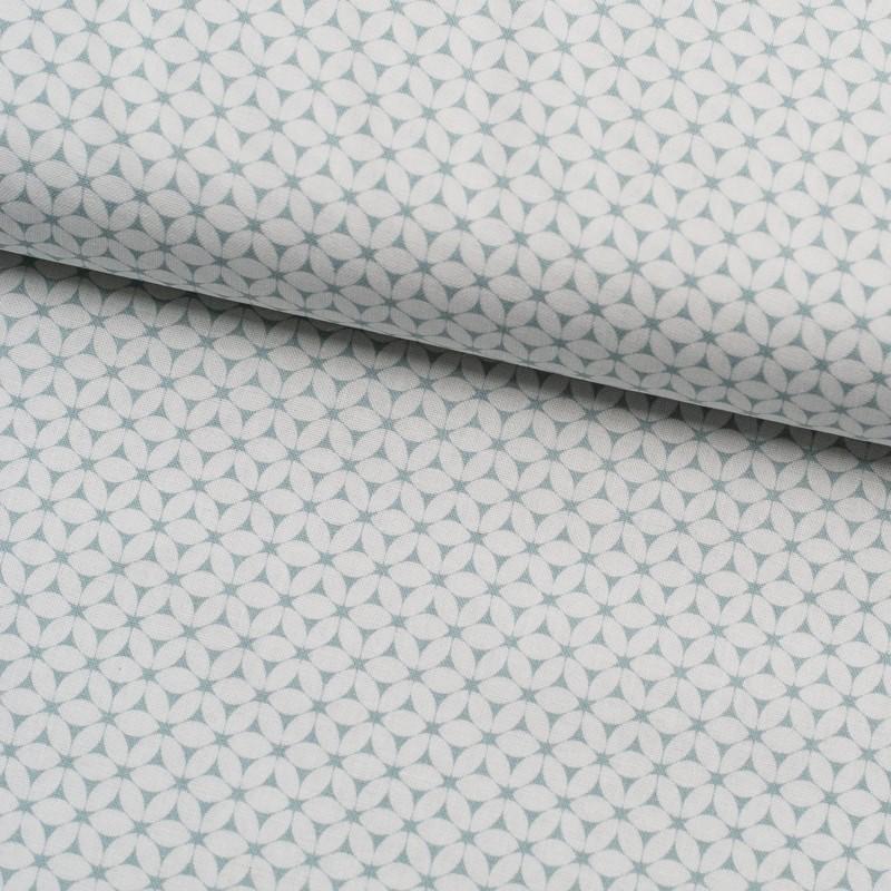 Tela de algodón flores simétricas lomo