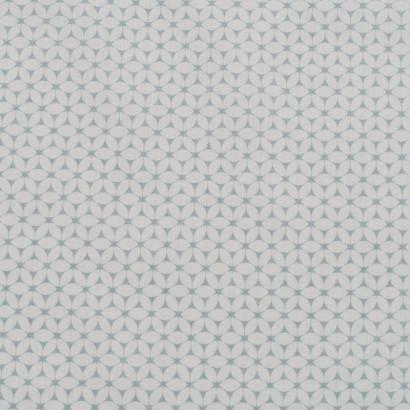 Tela de algodón flores simétricas lisa