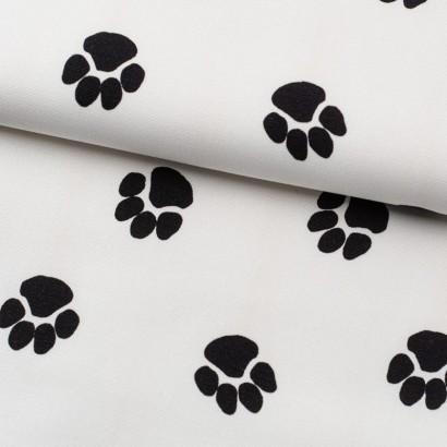 Tela de algodón huellas de perro lomo
