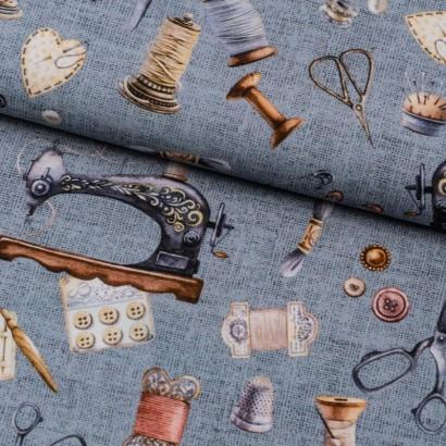 Tela de algodón material de costura lomo