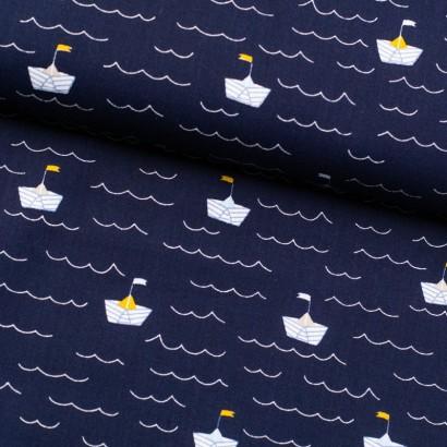 Tela de algodón barcos lomo