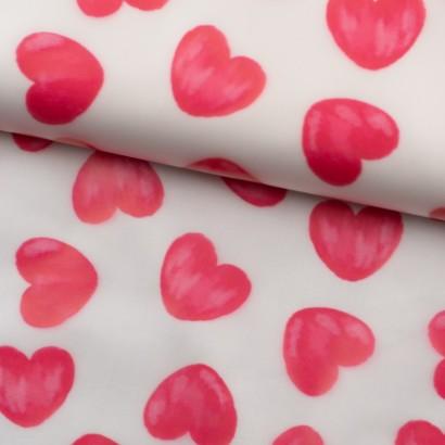 Tela de impermeable corazones lomo