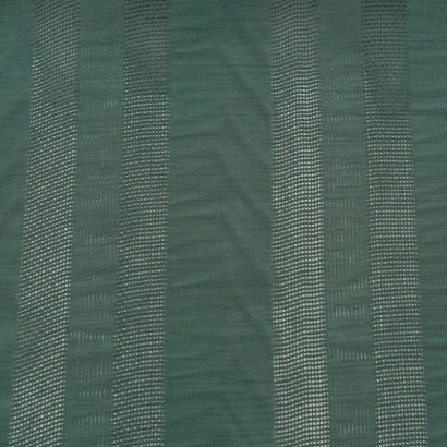 Tela de algodón rayas bordadas lisa
