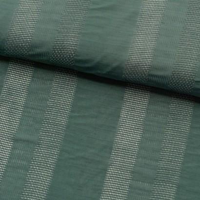 Tela de algodón rayas bordadas lomo