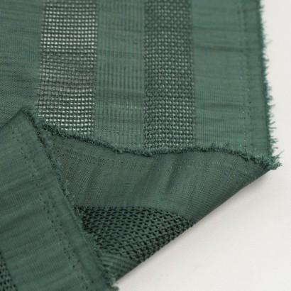 Tela de algodón rayas bordadas reves