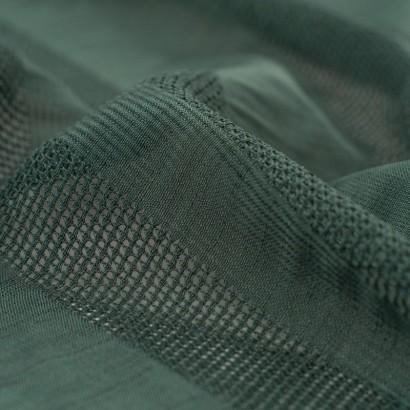Tela de algodón rayas bordadas detalle