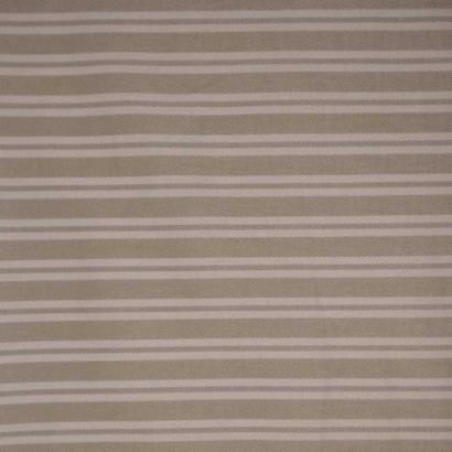 Tela de loneta de rayas beises y blancas 1