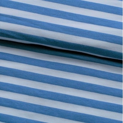 Tela de punto camiseta raya marinera