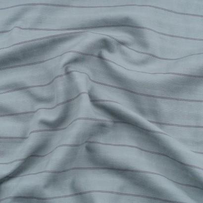 Tela de algodón varias rayas arrugada