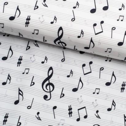Tela de algodón notas musicales lomo