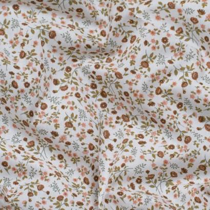 Tela de algodón flores liberty arrugada