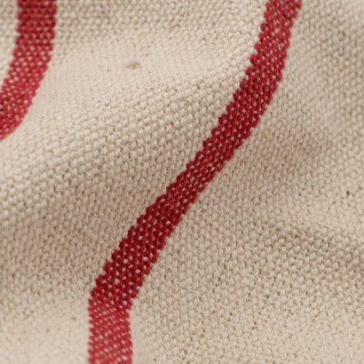 Tela de loneta rústica rayas detalle
