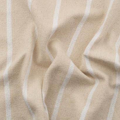 Tela de loneta rústica rayas arrugada