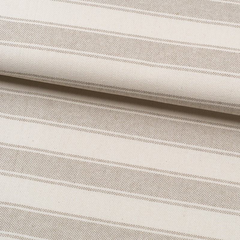 Tela de loneta rayas triples lomo