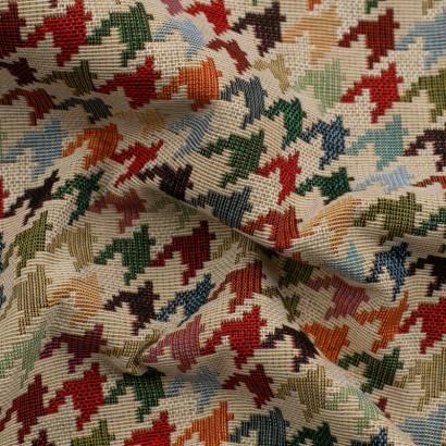 Tela de tapiceria Gobelino pata de gallo arrugada