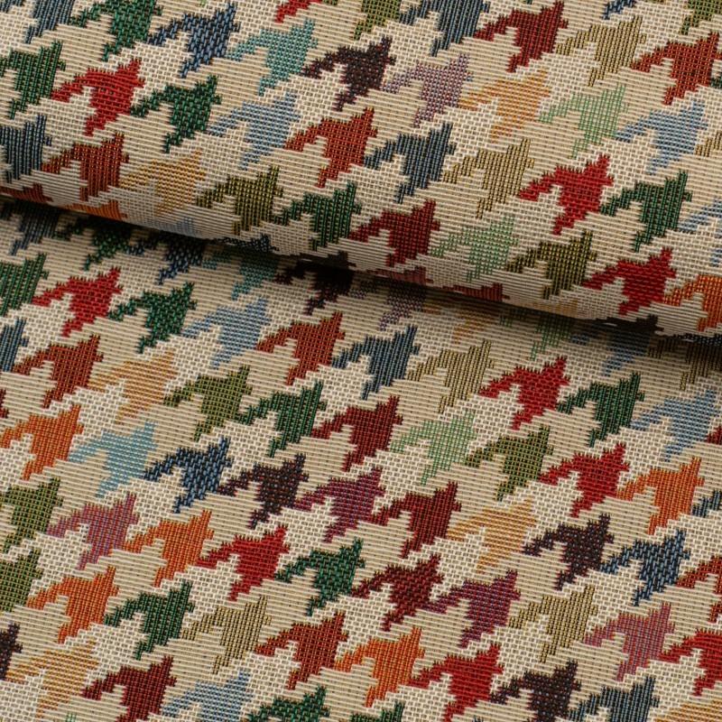 Tela de tapiceria Gobelino pata de gallo lomo