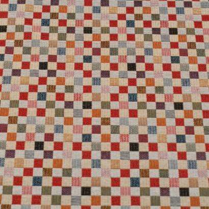 Tela de tapiceria Gobelino cuadros colores lisa